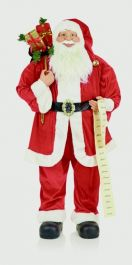 Premier Standing Santa With List & Glasses - 180cm