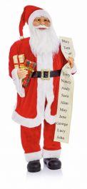 Premier Standing Santa With List & Parcel Red - 1m