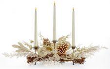 Premier Table Centre Piece Candle - Gold Triple 70cm