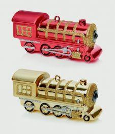 Premier Train Decoration - 15cm Red or Gold