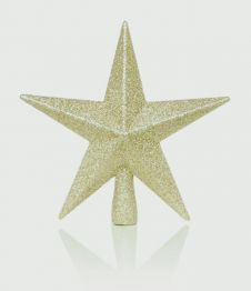 Premier Tree Top Star Glitter Finish - Champagne Gold 20cm