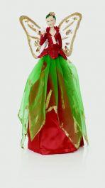 Premier Treetop Fairy & Dove - Red Green 25cm