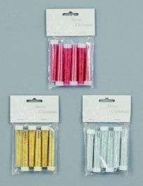 Premier Tubes Of Glitter Red Gold Silver - Pack 6