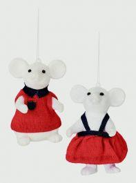 Premier White Glitter Mice - 10cm Assorted Designs