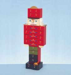 Premier Wooden Nutcracker Advent - 47cm