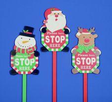 Premier Wooden Santa Stop Here Sign
