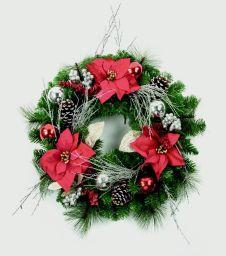 Premier Wreath Red Gold Silver - 60cm