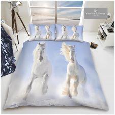 PREMIUM DUVET SET 3D WHITE HORSE