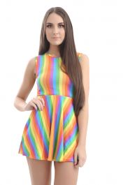 Pride Rainbow Skater Dress