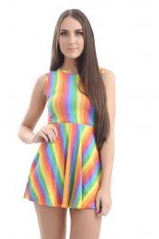 Rainbow Skater Dress