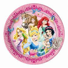 Princess & Animal 23 CM Plates (Pack of 8)