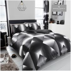 PRINTED DUVET SET 3D TRIANGLE