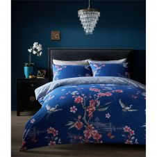PRINTED DUVET SET AKARI NAVY