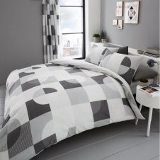 PRINTED DUVET SET ALEXA GREY