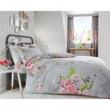 PRINTED DUVET SET ALICE GREY