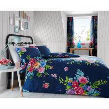 PRINTED DUVET SET ALICE NAVY
