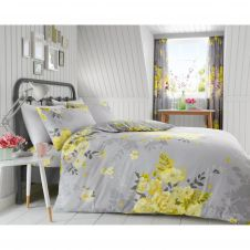 PRINTED DUVET SET ALICE YELLOW