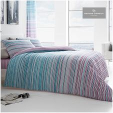 PRINTED DUVET SET ANDREA TEAL