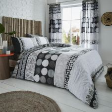 PRINTED DUVET SET ANOUK GREY