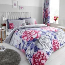 PRINTED DUVET SET AUBERY GREY