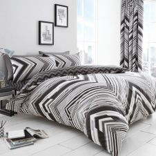 PRINTED DUVET SET AUSTIN GREY