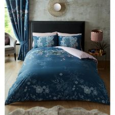 PRINTED DUVET SET BELLA NAVY