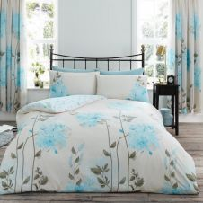 PRINTED DUVET SET CAMILA TEAL