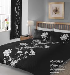 PRINTED DUVET SET CHANTILLY BLACK