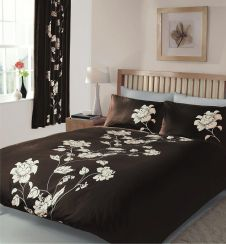 PRINTED DUVET SET CHANTILLY CHOCO