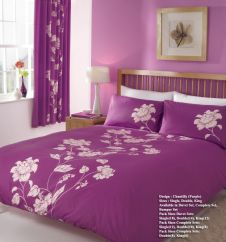 PRINTED DUVET SET CHANTILLY PURPLE