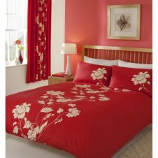 PRINTED DUVET SET CHANTILLY RED
