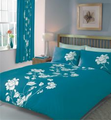 PRINTED DUVET SET CHANTILLY TEAL