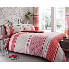PRINTED DUVET SET CHARTER STRIPE NATURAL