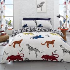 PRINTED DUVET SET CHEETAH NATURAL