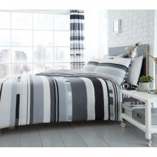 PRINTED DUVET SET CHESTER STRIPE MONO