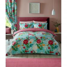PRINTED DUVET SET CIARA AQUA BLUE