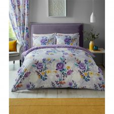 PRINTED DUVET SET CIARA PURPLE