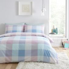 PRINTED DUVET SET COSMIC CHECK MULTI