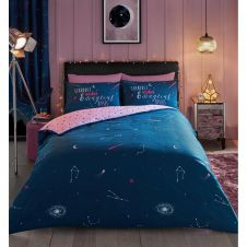 PRINTED DUVET SET COSMIC START DUST PINK