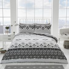 PRINTED DUVET SET DAKOTA GREY
