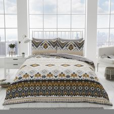 PRINTED DUVET SET DAKOTA NATURAL