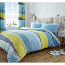 PRINTED DUVET SET DEXTER BLUE