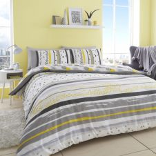 PRINTED DUVET SET EARLE GREY