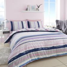 PRINTED DUVET SET EARLE PINK