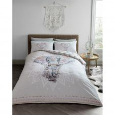 PRINTED DUVET SET EBONY NATURAL