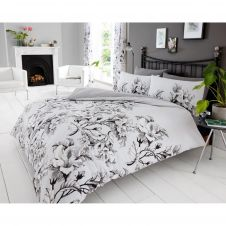 PRINTED DUVET SET EDEN GREY