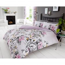 PRINTED DUVET SET EDEN PURPLE