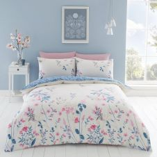 PRINTED DUVET SET EMMA NATURAL