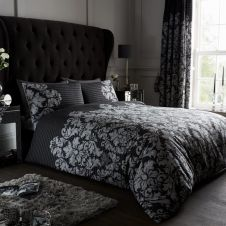PRINTED DUVET SET EMPIRE DAMASK BLACK
