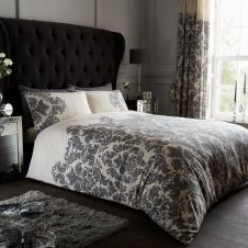 PRINTED DUVET SET EMPIRE DAMASK CREAM